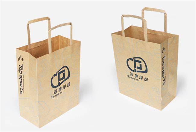 不同色彩材质风格牛皮纸手提袋包装鉴赏