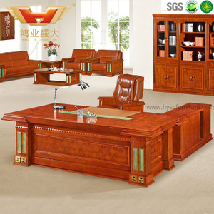 广东鸿业办公家具 厂家直销 办公桌 高档豪华总裁班台 HY-D5824