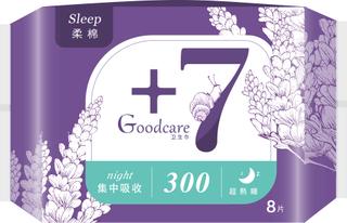 +7超熟睡柔棉夜用300mm卫生巾8片