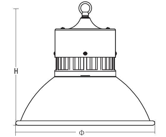 满天星工矿灯结构图