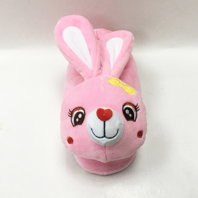 5ca6a4ce04f9 Cute Rabbit Shaped Plush Kids Animal Slippers - Buy Plush Rabbit ...