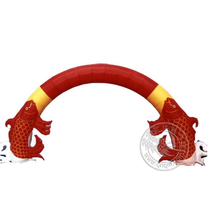鲈鱼充气拱门