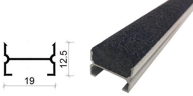 金剛砂地下室防滑坡道防滑條-19*12.5 mm