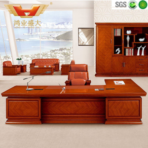 广东鸿业办公家具 厂家直销 办公桌 高档豪华总裁班台 HY-D鸿业10号