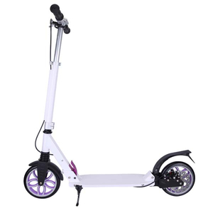 Adult folding scooter with front and rear suspension