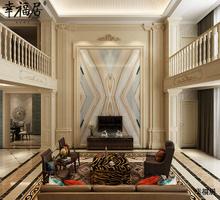 罗浮宫 整体背景墙定制别墅复式齐屋定制