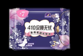 +7熟睡柔棉夜用410mm卫生巾3片