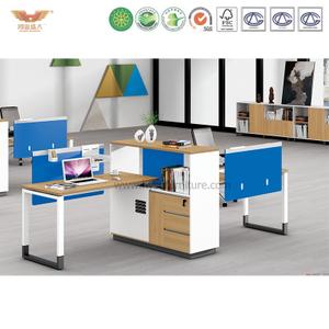 厂家直销 现代简约板式两人位职员桌 时尚职员办公桌 H90-0211