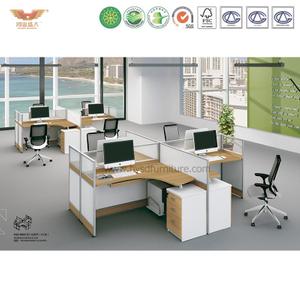 厂家直销 办公家具 四人位职员桌 屏风办公桌 鸿业盛大 H15-0815