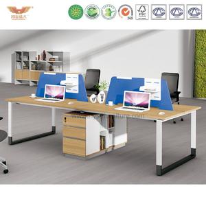 厂家直销 现代简约板式四人位桌屏职员桌 时尚员工办公桌 H90-0215