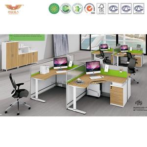 厂家直销 办公家具 四人位职员桌 屏风办公桌 鸿业盛大 H15-0818