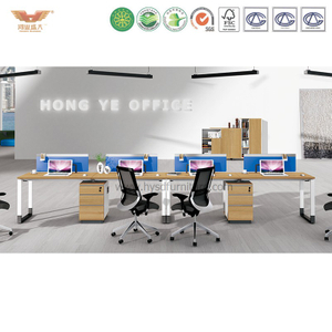 厂家直销 现代简约板式双人组合台 时尚职员办公桌 H90-0209