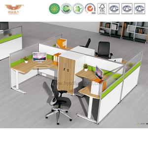 厂家直销 办公家具 四人位职员桌 屏风职员办公桌 鸿业盛大 H15-0820