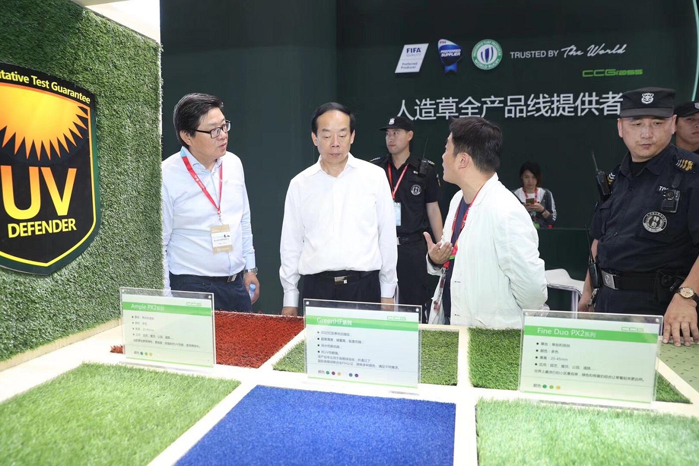 国家体育总局副局长赵勇在共创展位