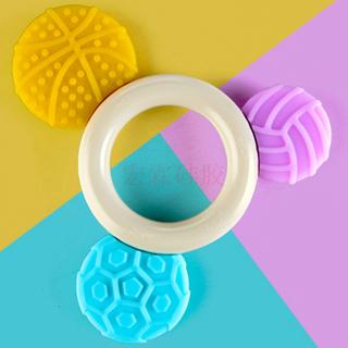 廠家直銷新品嬰兒矽膠獨角獸甜甜圈牙膠,寶寶磨牙器卡通動物玩具