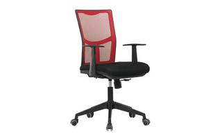 厂家直销 红背黑座中班椅 现代时尚办公室中班椅 HY-34B