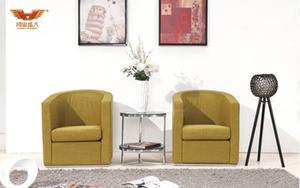 厂家直销 单人位办公沙发 现代时尚办公室接待布艺沙发 HY-S033