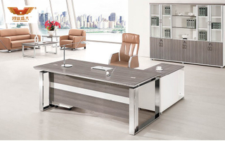 厂家直销 银松木办公桌 现代时尚办公室大班台 H70-0172