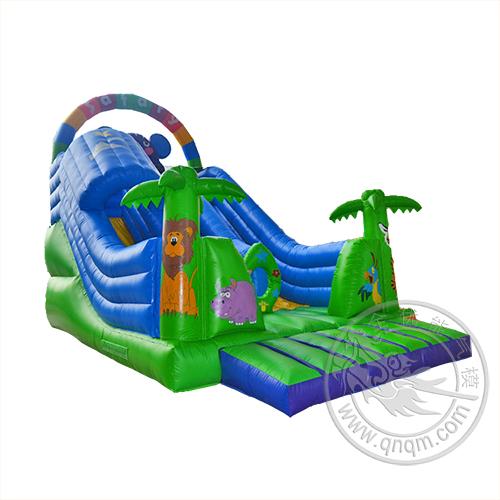 CHSL393卡通动物图案充气滑梯
