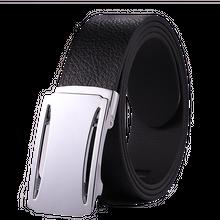 a7b2164ef High Quality Black Custom Automatic Buckle Mens Leather Belt for Men
