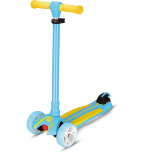 Tri-wheels scooter with double color deck