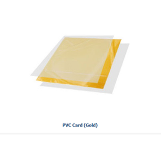 Instant PVC card making material -golden