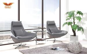 广东办公家具 厂家直销 灰色羊布休闲椅 现代时尚单人位休闲椅 HY-LL028