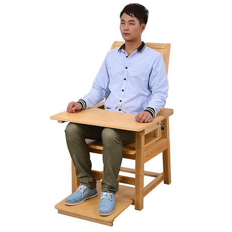 High back wooden restraint chair