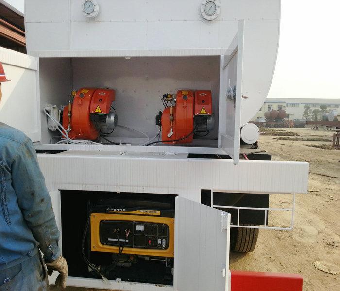 50,000 liters 3 axle bitumen insulation tank