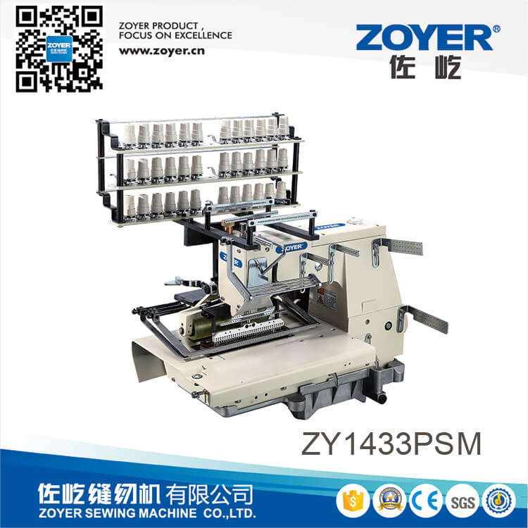 ZY 40PSM Zoyer 40needle Flatbed Double Chain Stitch Smocking New Sewing Machine Smocking