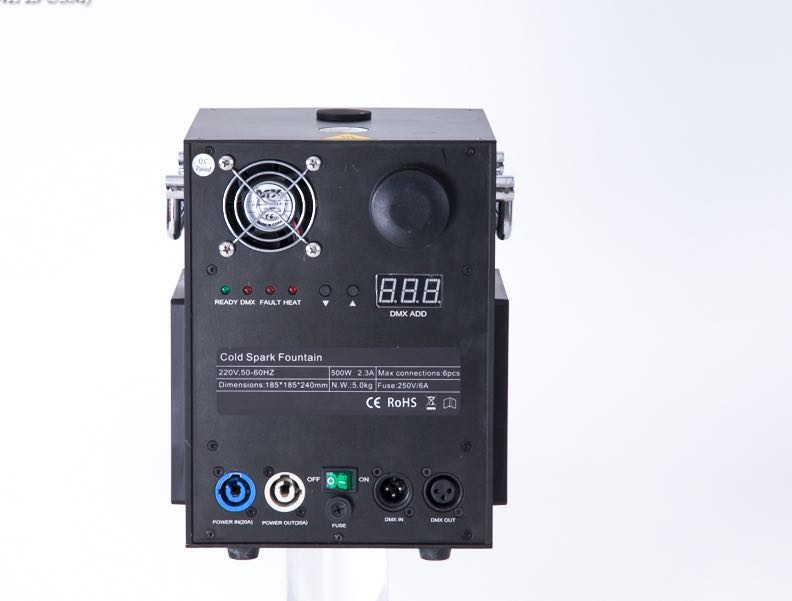 400W Cold Spark Machine Remote/DMX