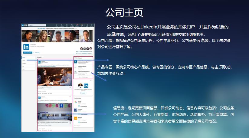 LinkedIn company homepage